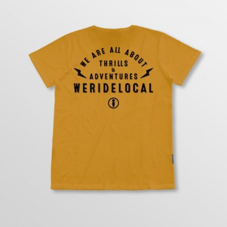 WE RIDE LOCAL BOLT MUSTARD TEE size:L