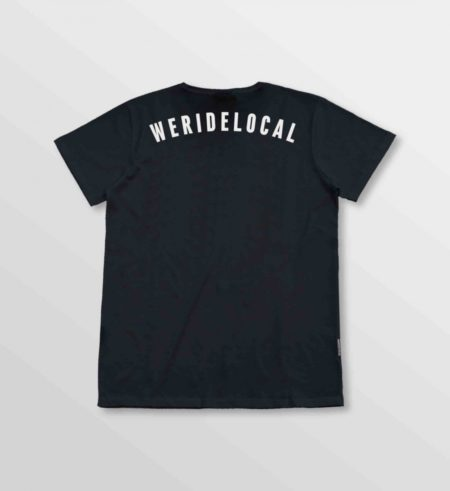 WE RIDE LOCAL RIDER ANTHRACITE TEE size:L